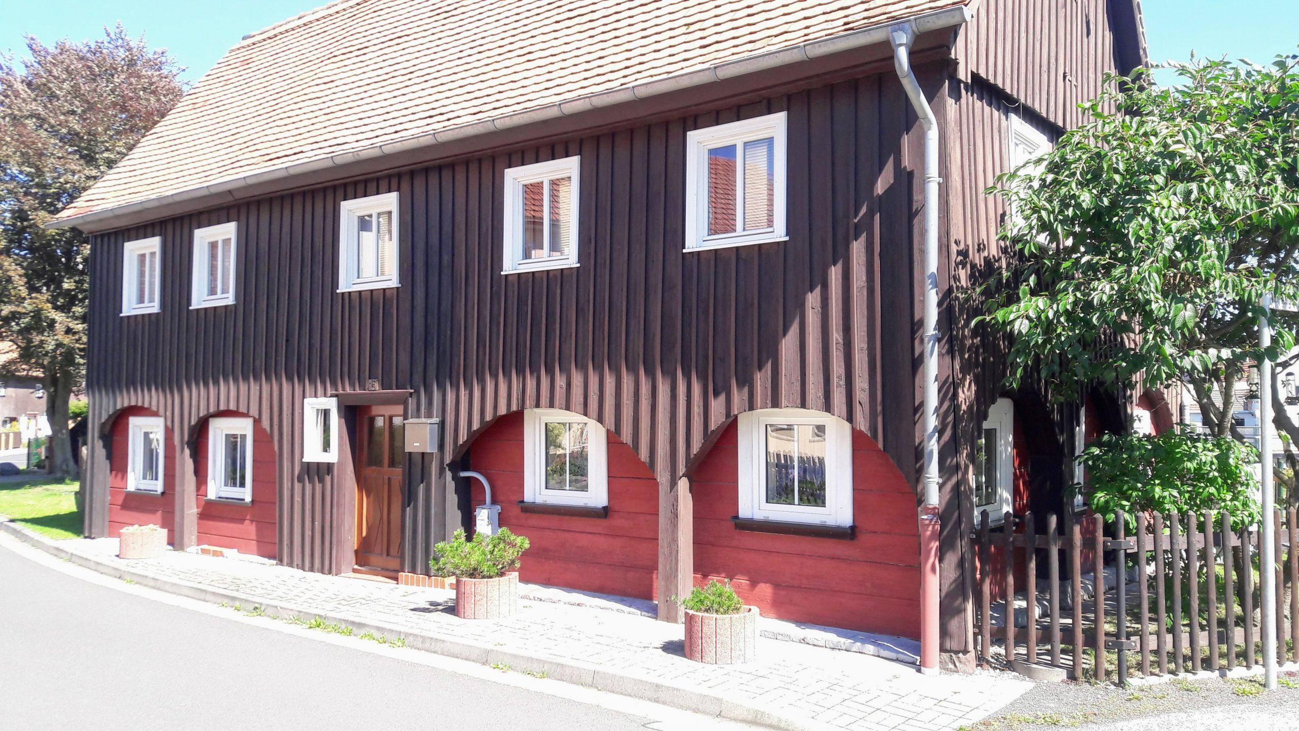 Typisches Umgebindehaus bei Zittau